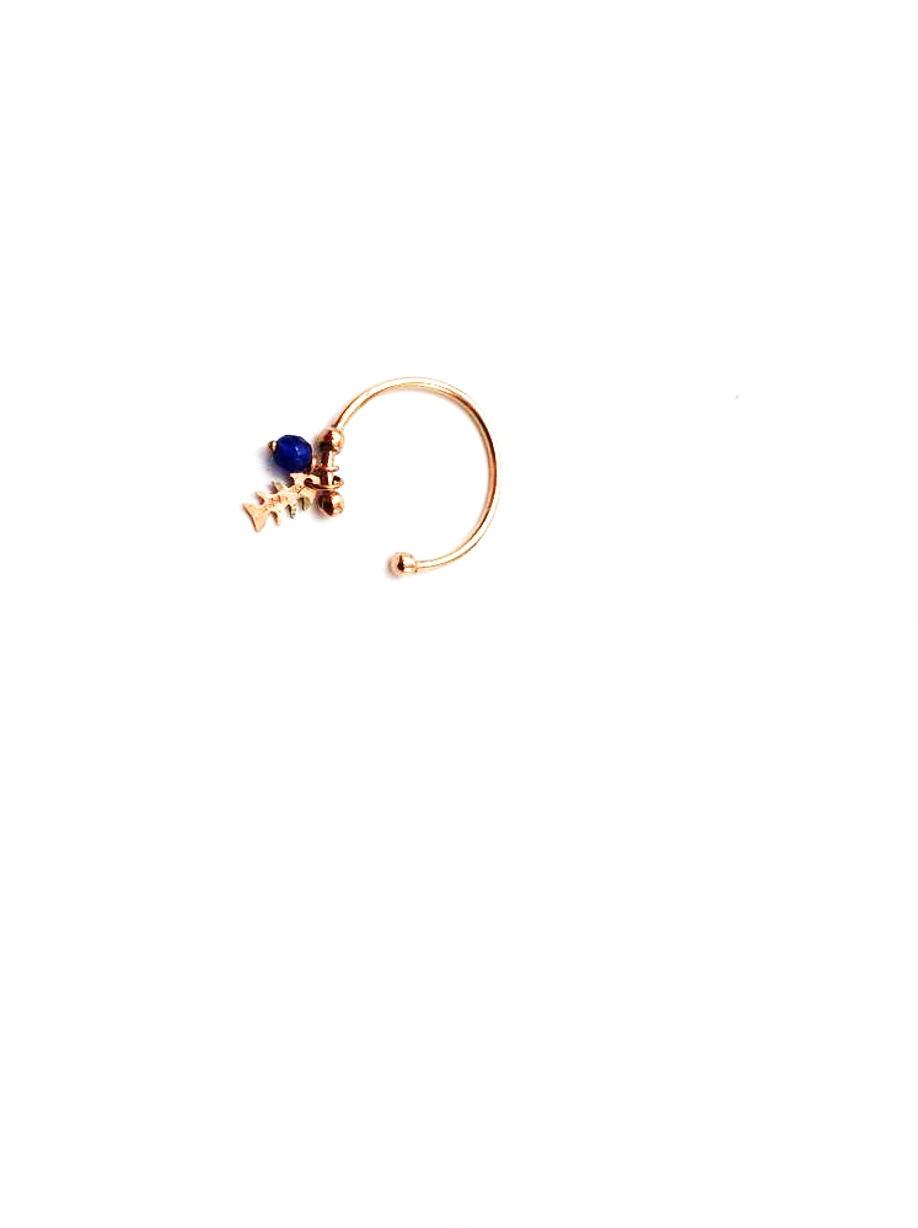 Gold ring with pendant - 001