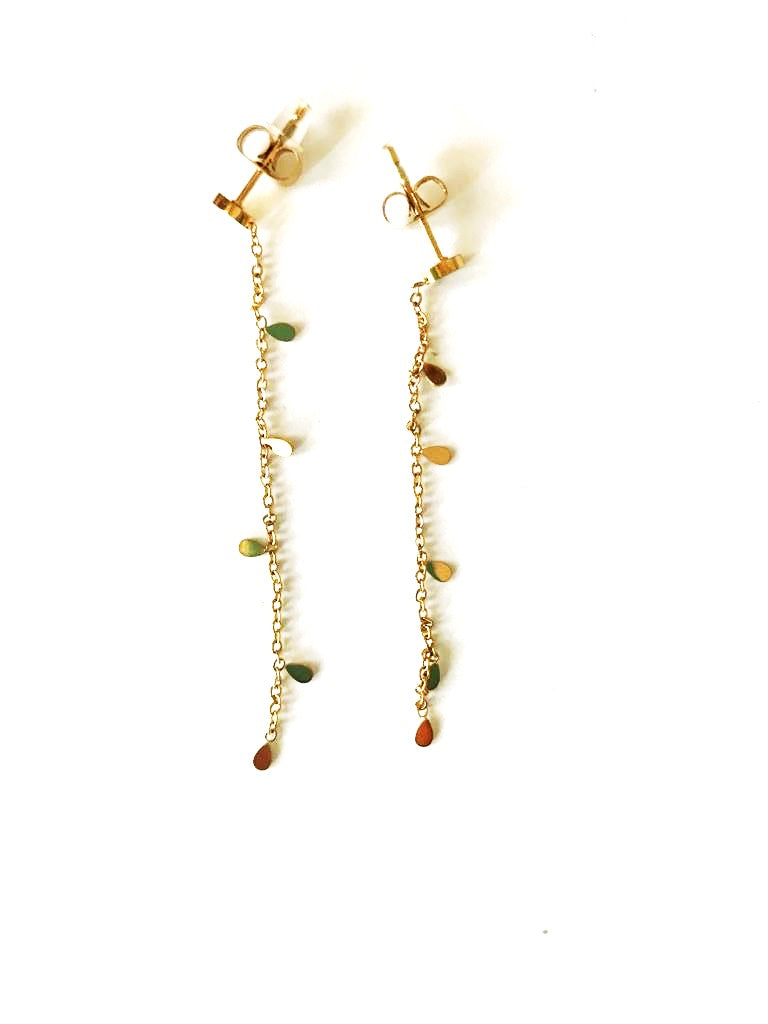 Drop earrings with charms - 027