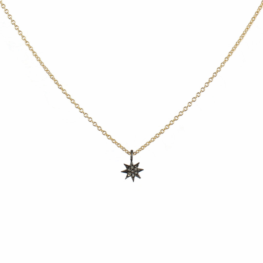 Necklace with  small pendant. The star - 004
