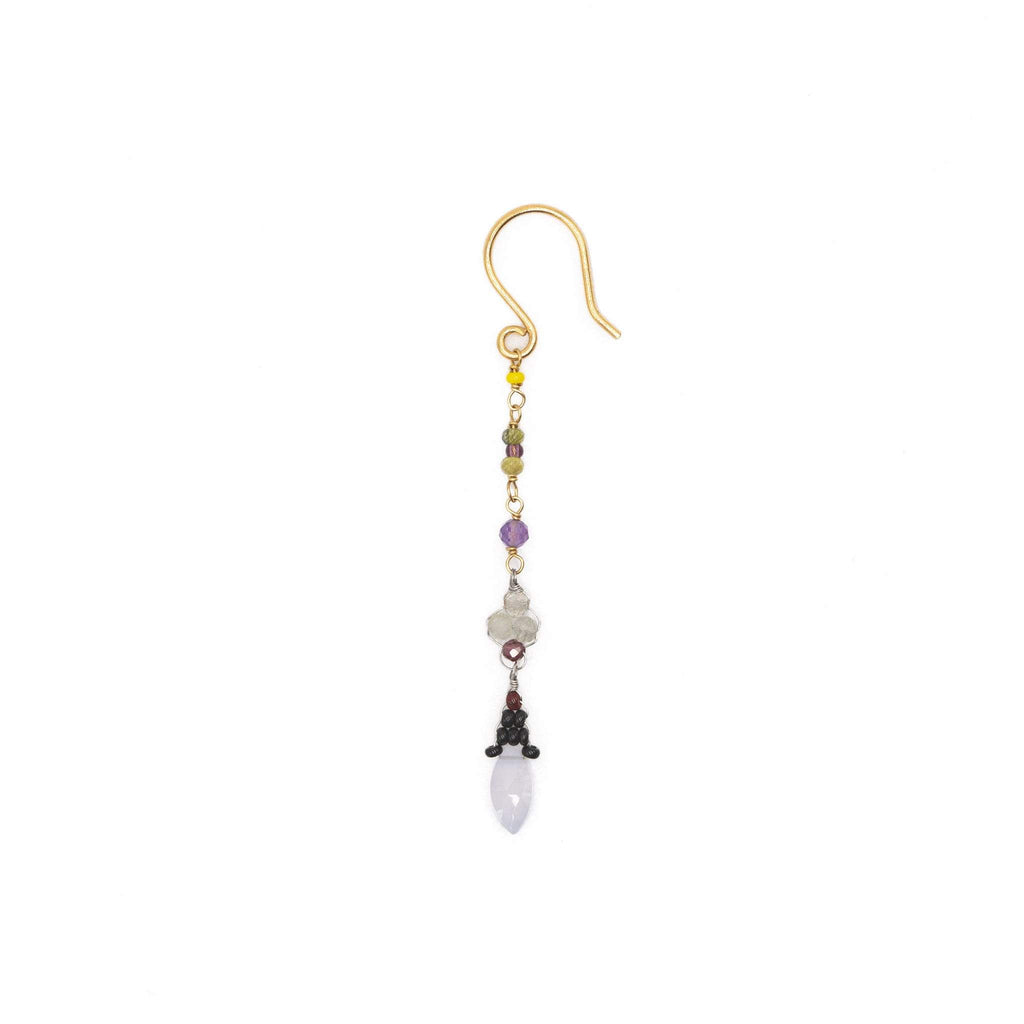 Drop earrings with drop pendant - 003