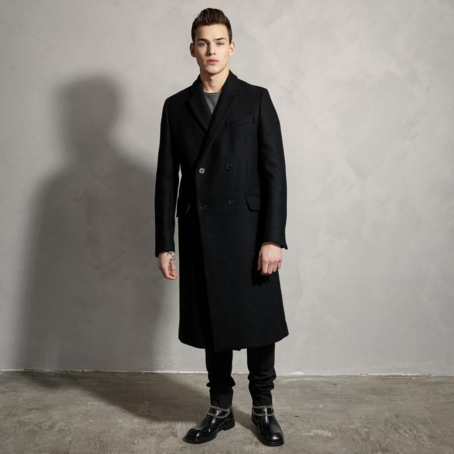 DB WOOL COAT - BLACK-Ljung by Marcus Larsson Stockholm