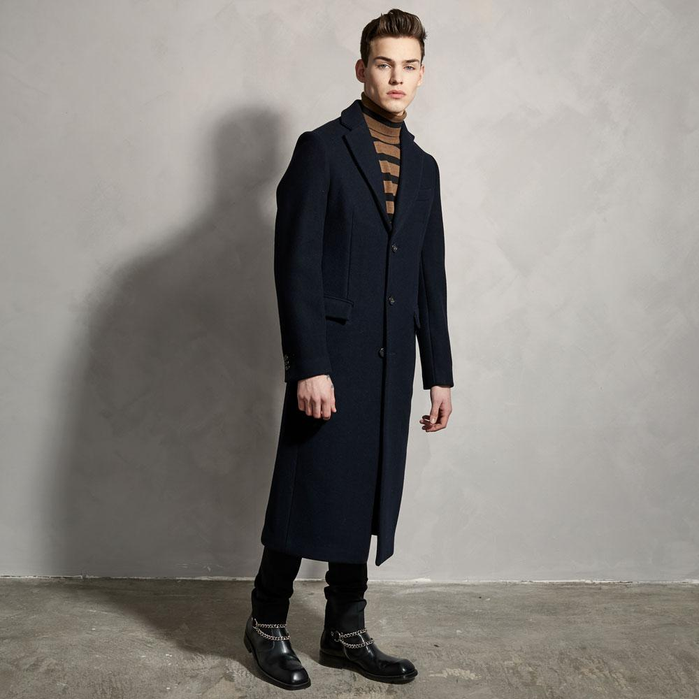 WOOL OVER COAT - NAVY-Ljung by Marcus Larsson Stockholm