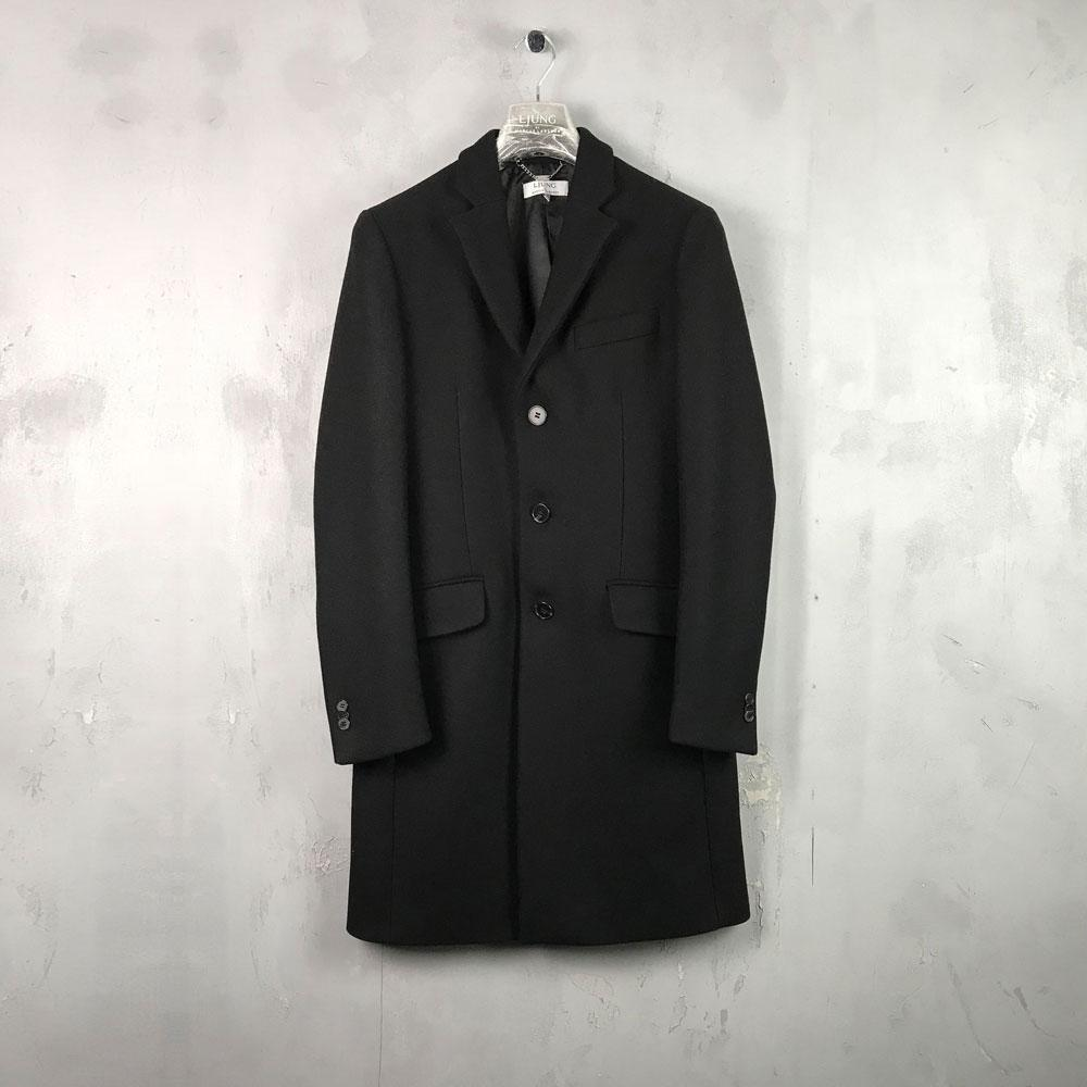 ZACK WOOL OVERCOAT - BLACK-Ljung by Marcus Larsson Stockholm