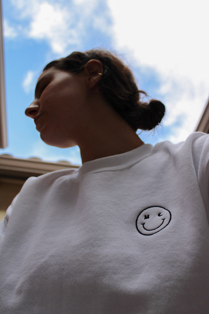 Embroidered Smile Sweatshirt