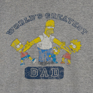 90's Simpsons 'Worlds Greatest Dad' T-Shirt XL