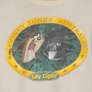 1995 Taz 'Say G'Day' T-Shirt Large