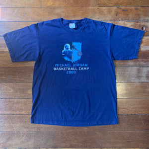 2000 MJ Basketball Camp T-Shirt Large