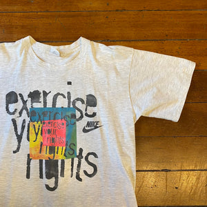 Early 90's Nike 'Exercise Your Rights' T-Shirt XL