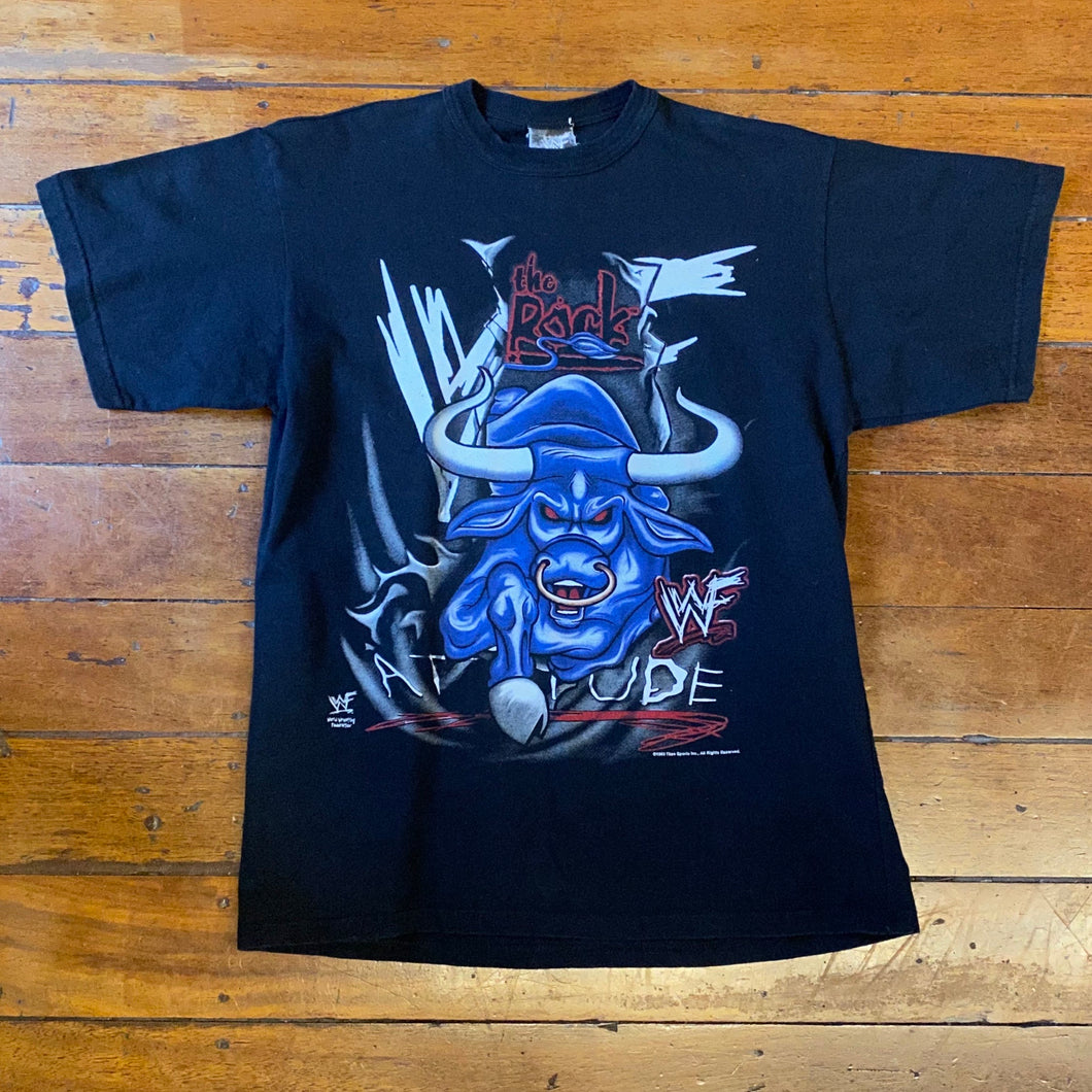 1999 The Rock Attitude T-Shirt Small