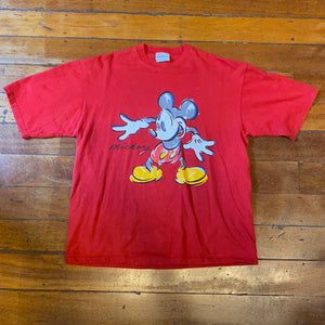 90's Mickey Sketch T-Shirt XL