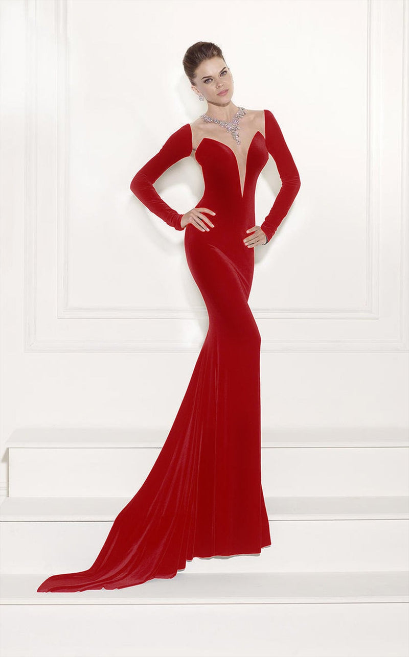 Tarik Ediz 92518 Dress Red