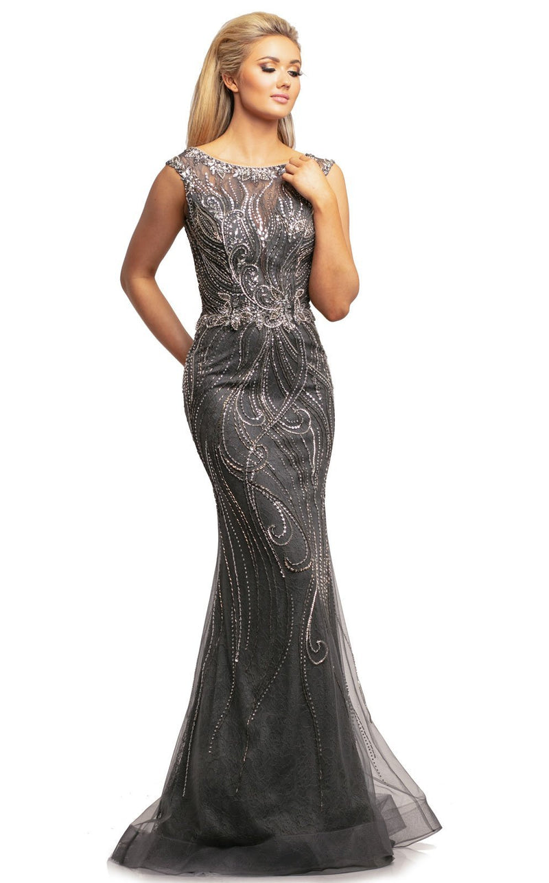 Johnathan Kayne 2042 Dress Charcoal