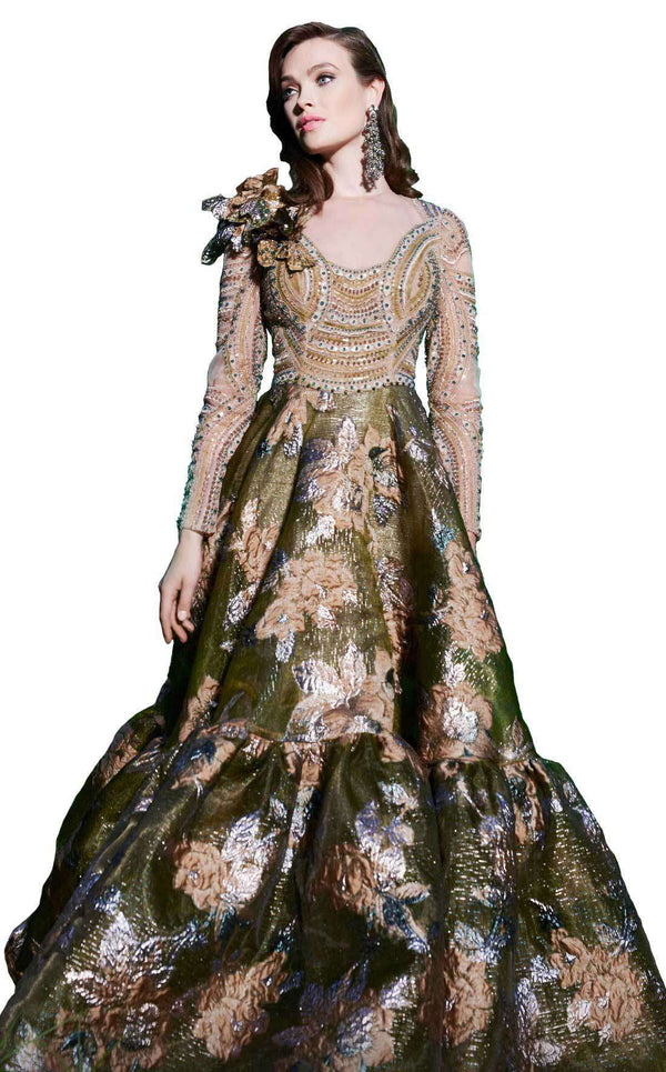 MNM Couture 2498 Dress Olive