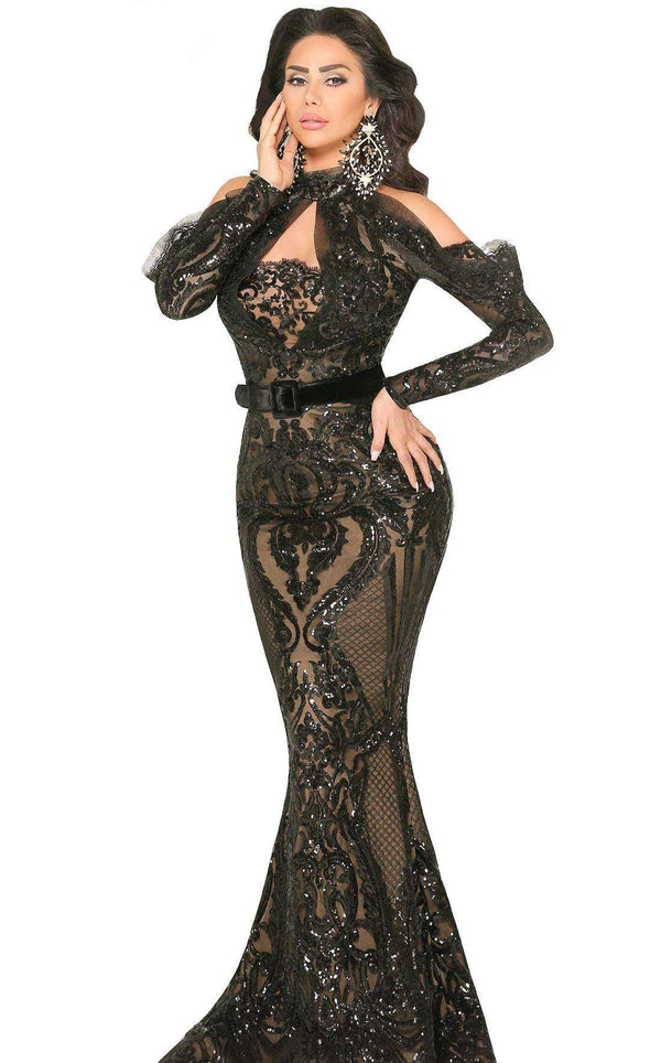 MNM Couture 2514 Dress Black