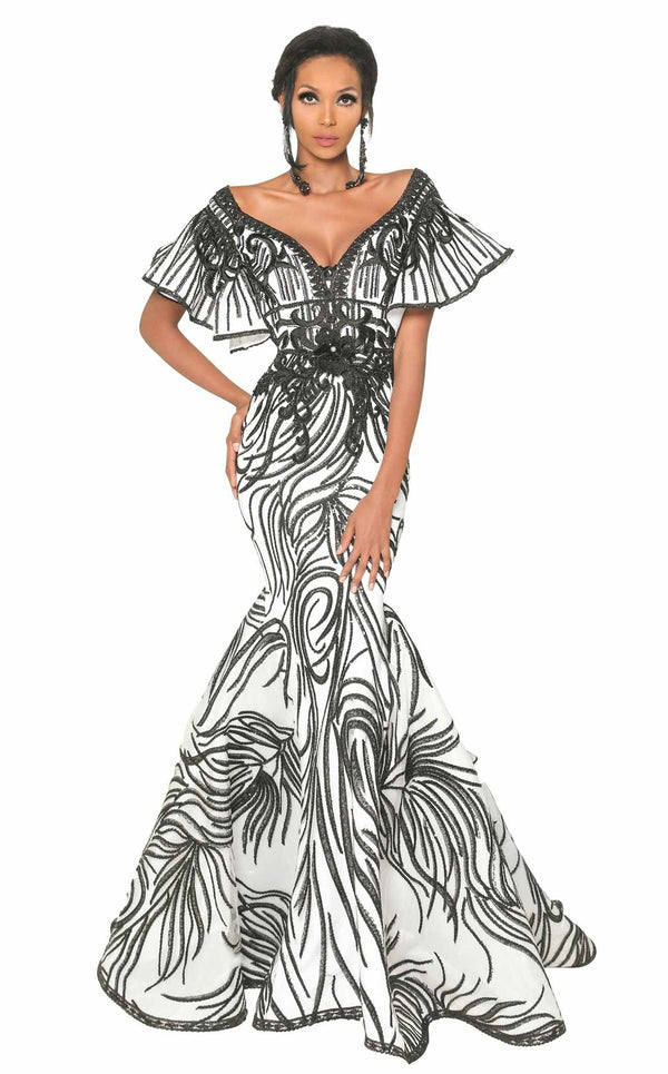 MNM Couture 2529 Black-White