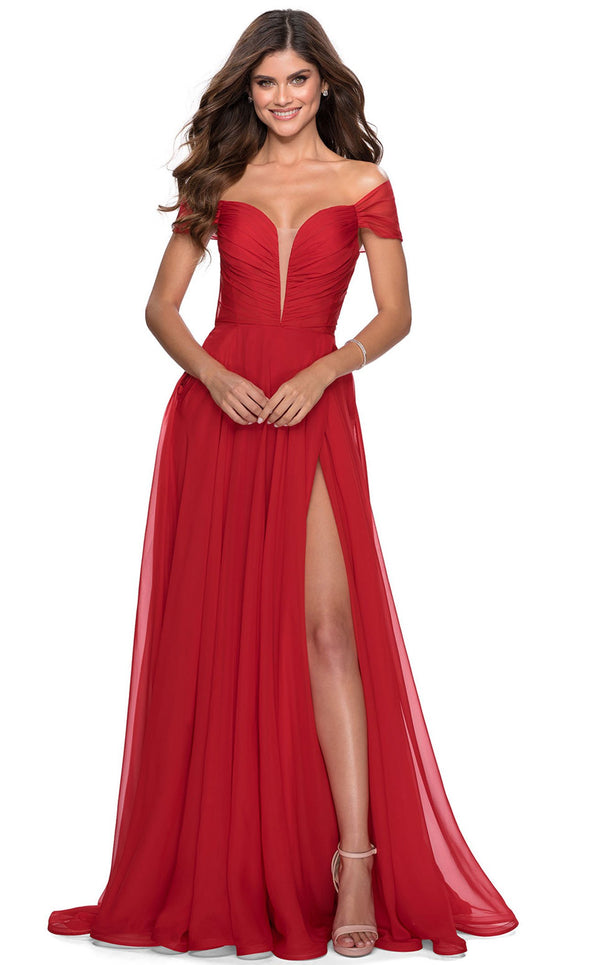 La Femme 28546 Dress Red