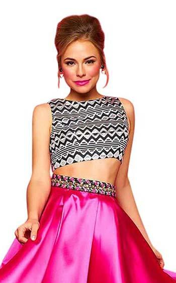 Mac Duggal 30312C Hot-Pink-Multi