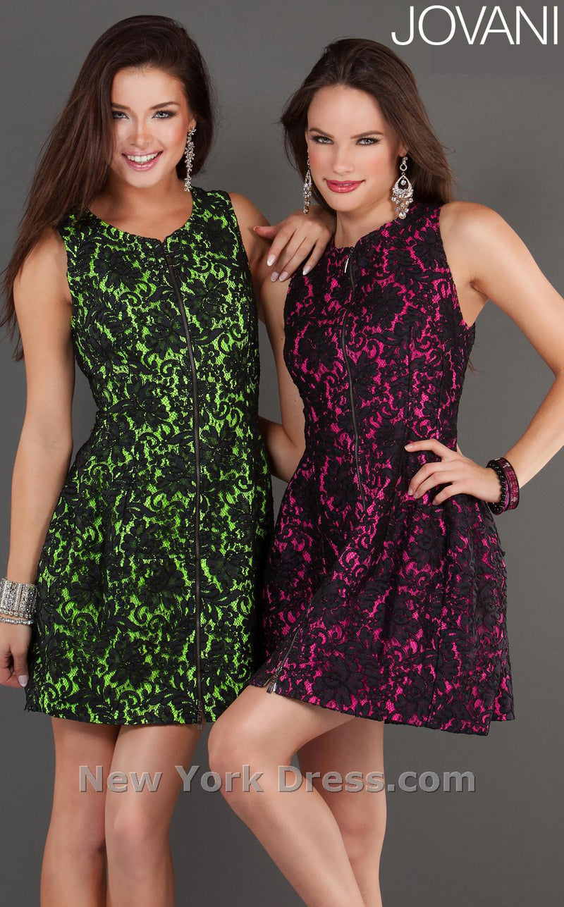 Jovani 74156 Black/Lime