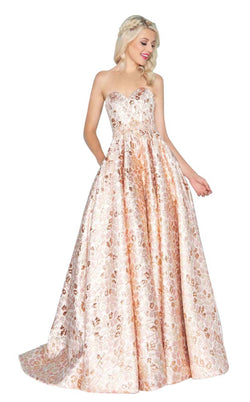 Mac Duggal 40751H Rose-Gold