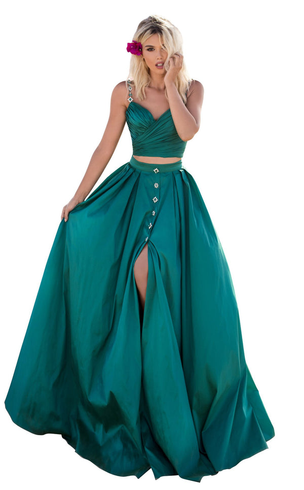 Tarik Ediz 50633 Dress Emerald