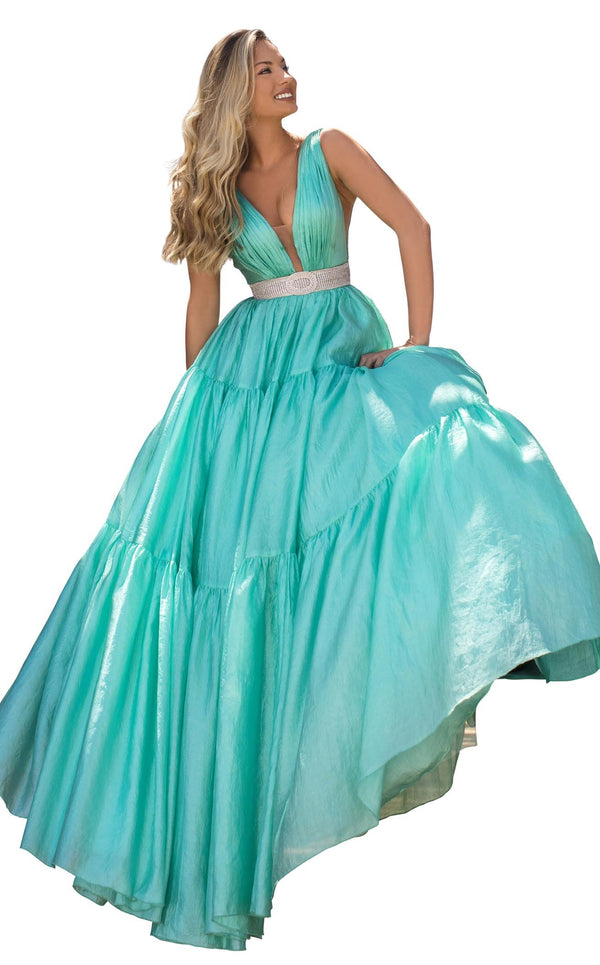 Tarik Ediz 50642 Dress Mint