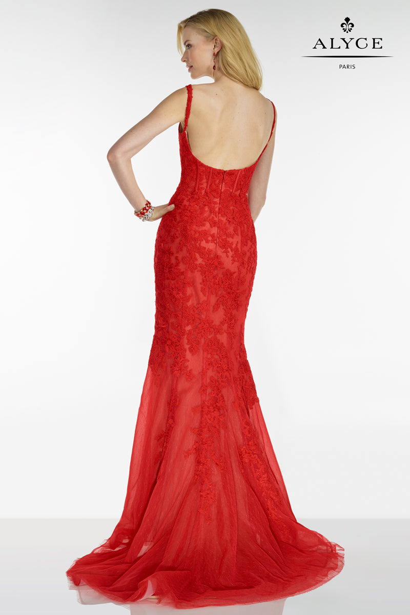 Alyce 5780 Red Back