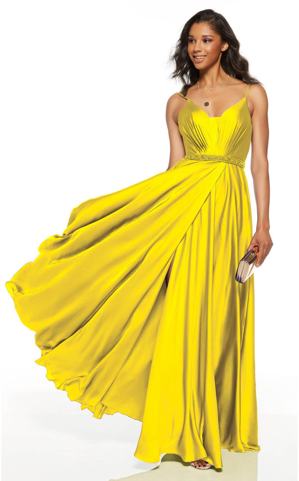 Alyce 60781 Dress Bright-Yellow