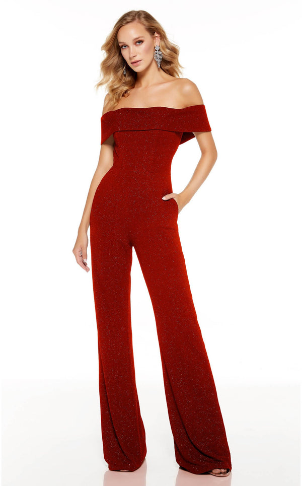 Alyce 60802 Jumpsuit Red