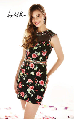 Angela and Alison 62038 Black-Floral