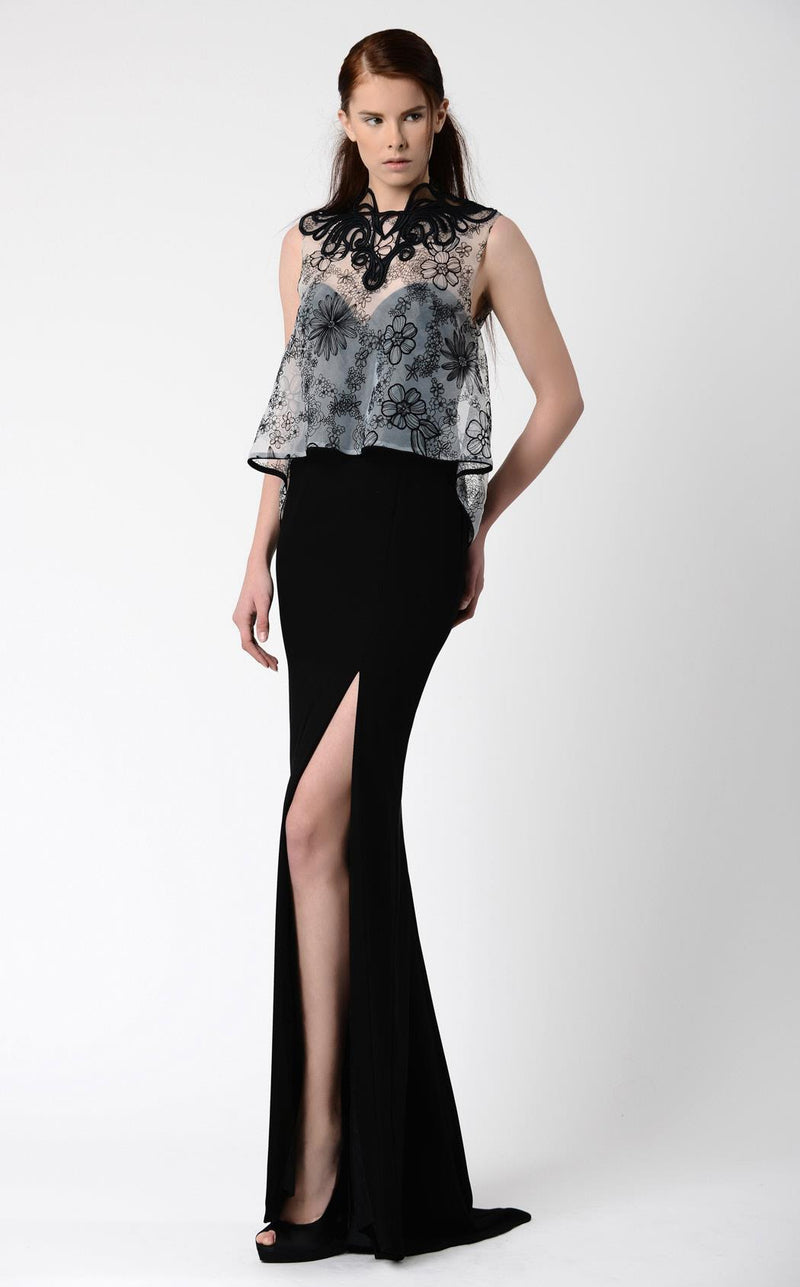 Beside Couture BC1083 Black & White Print