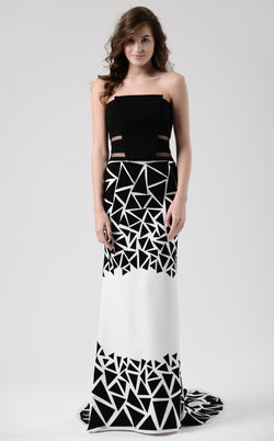 Beside Couture CHW1570 Black Ivory Print
