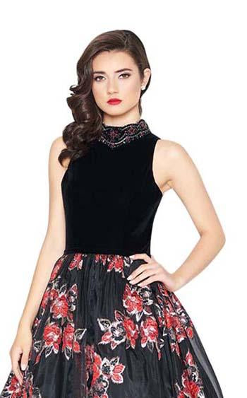 Mac Duggal 67677R Black-Multi