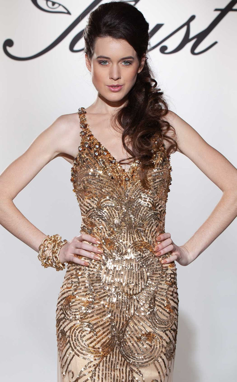 Faust 713 Dress Gold