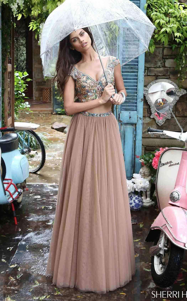 Sherri Hill 51166 Dark Nude