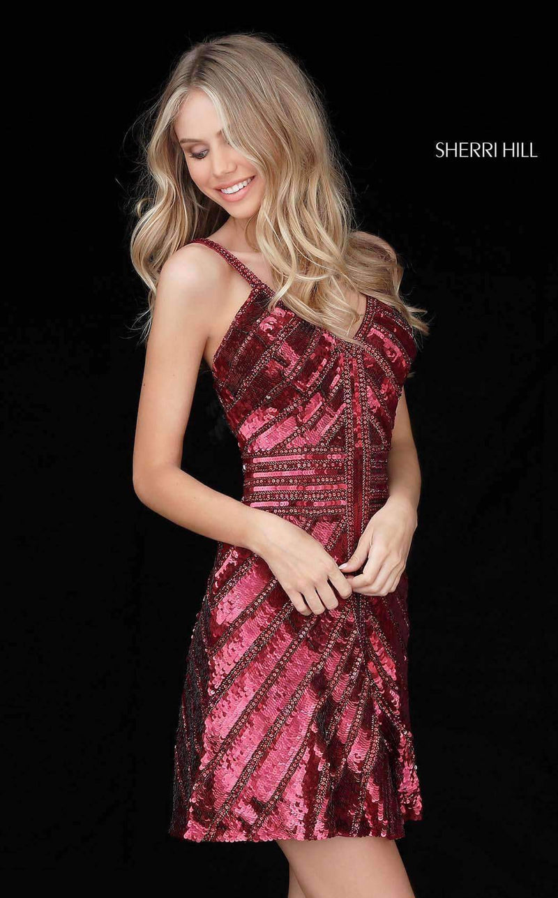 Sherri Hill 51363 Burgundy