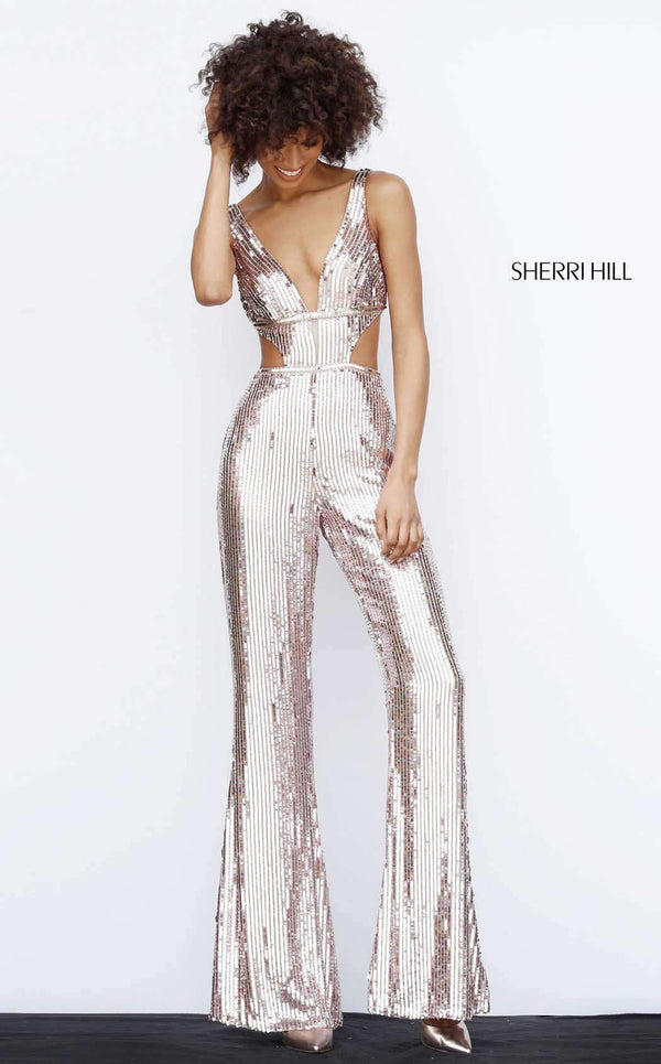 Sherri Hill 51350 Rose Gold