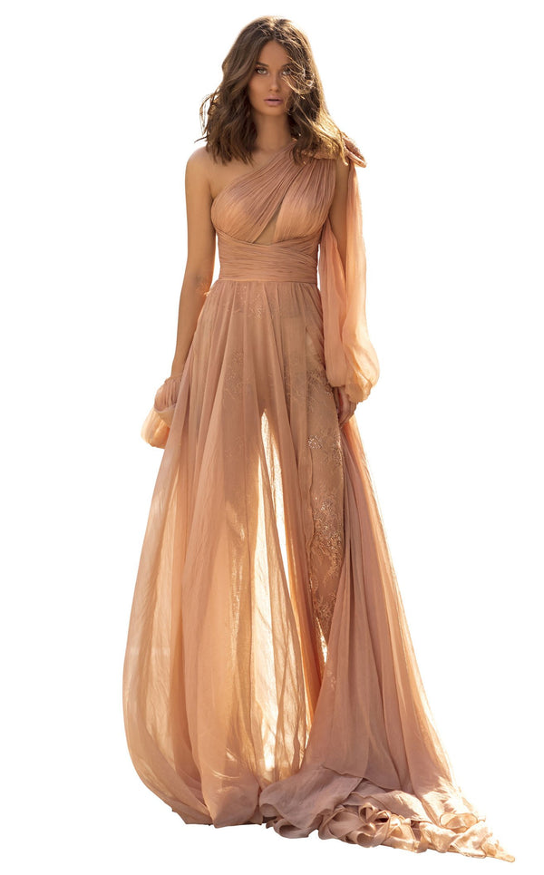 Tarik Ediz 93924 Dress Nude
