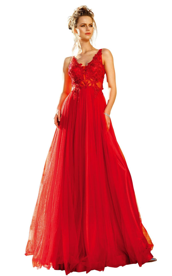 MNM Couture F4884 Red