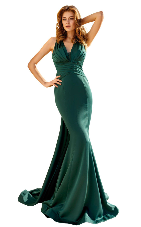 MNM Couture F4928 Emerald-Green