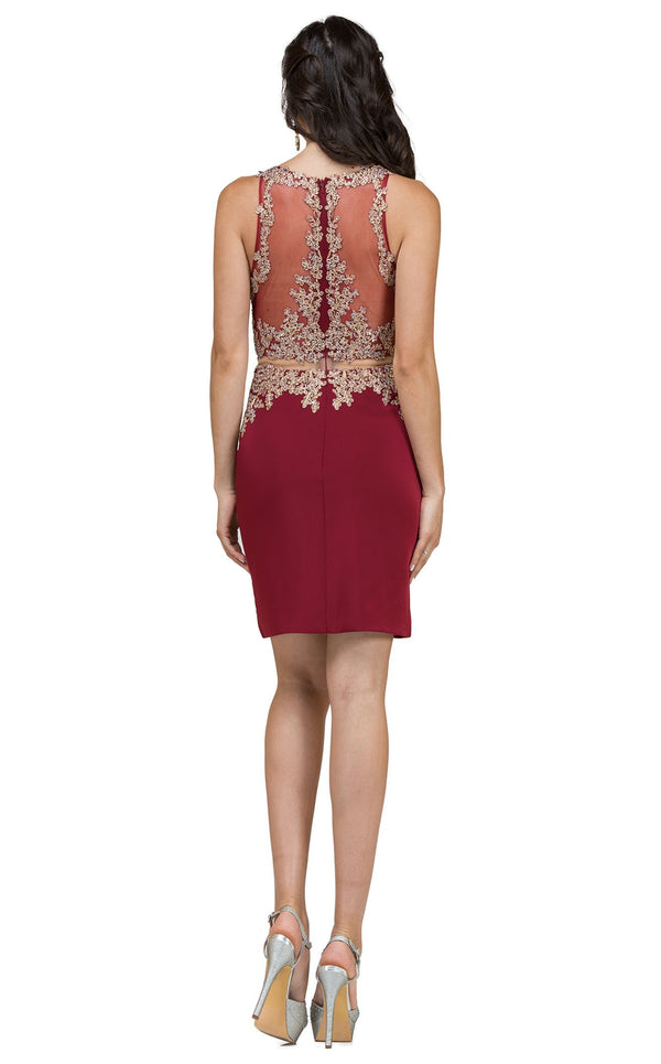 Dancing Queen 2000 Dress Burgundy