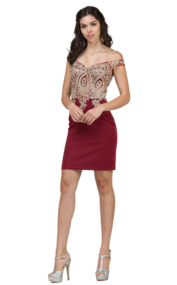 Dancing Queen 2001 Dress Burgundy