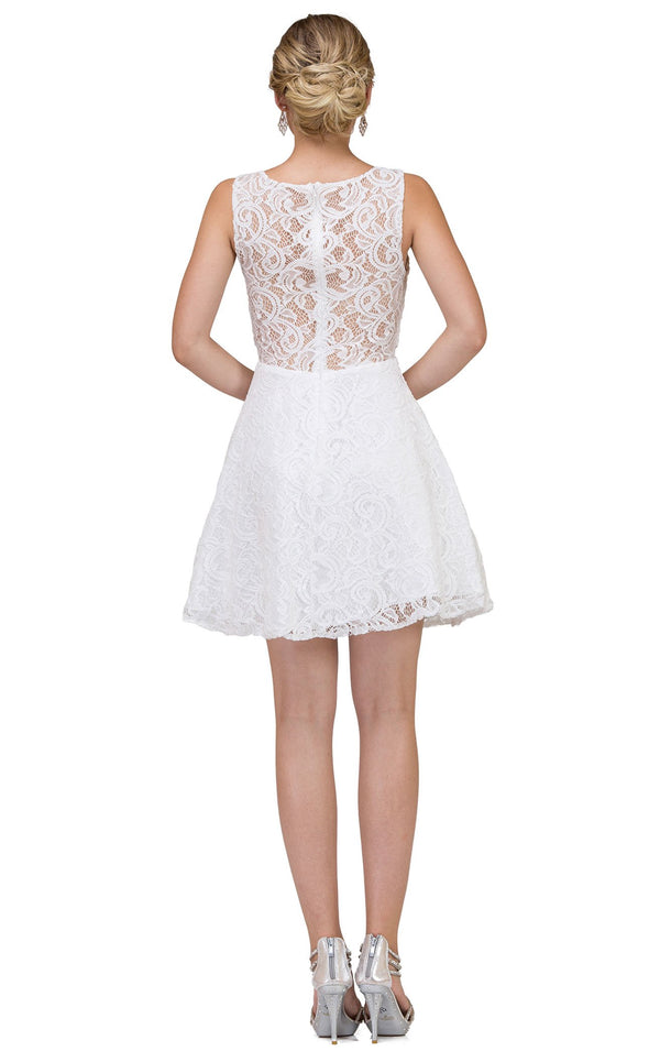 Dancing Queen 2053 Dress Off-White