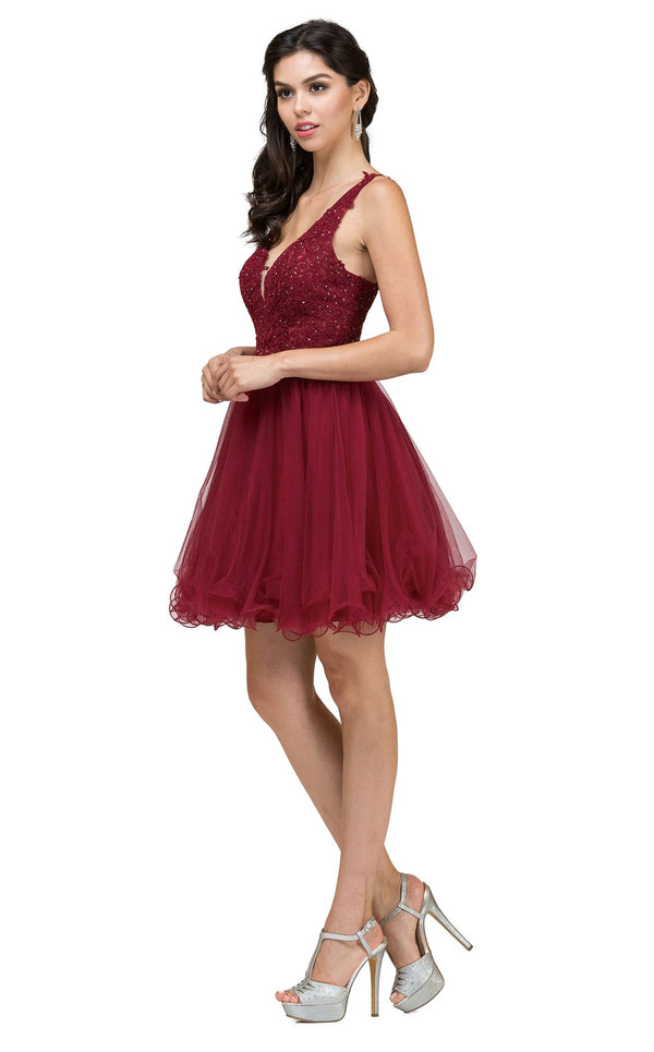 Dancing Queen 2054 Dress Burgundy