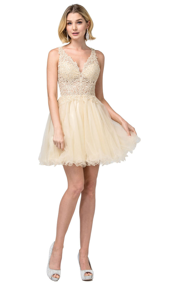 Dancing Queen 2054 Dress Champagne