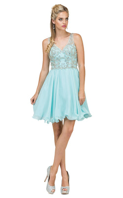 Dancing Queen 2115 Dress Aqua