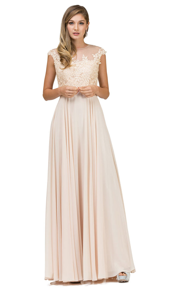 Dancing Queen 2121 Dress Champagne
