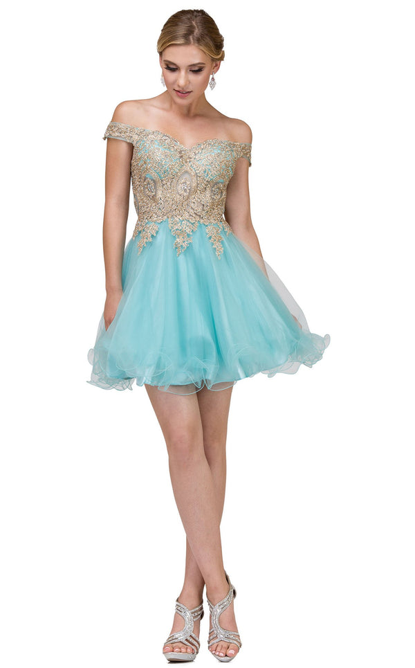 Dancing Queen 2130 Dress Aqua
