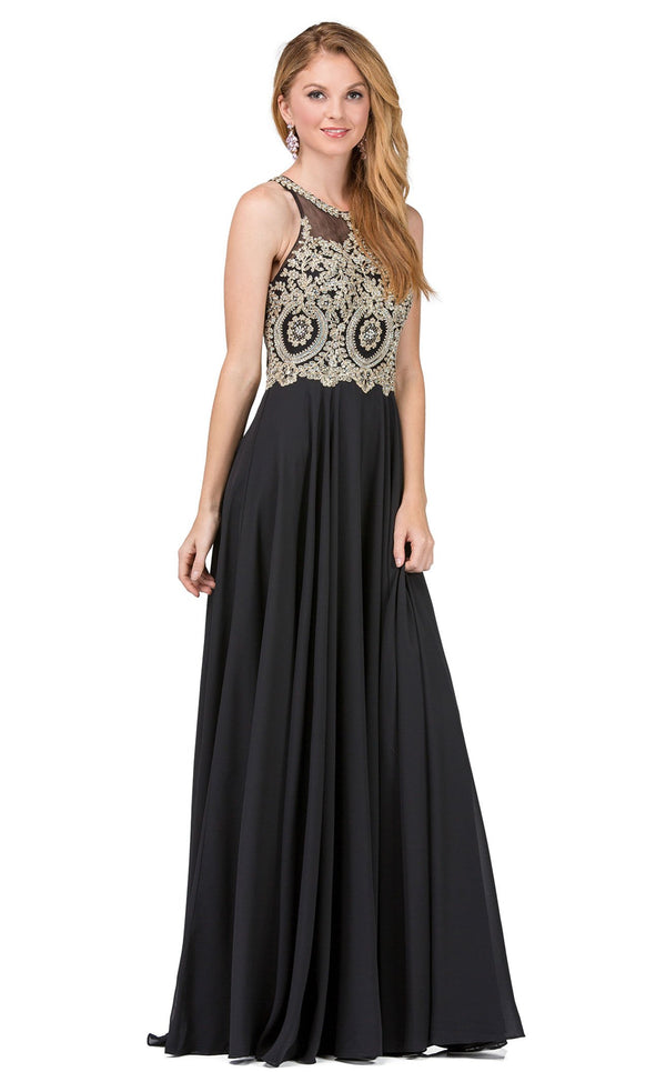Dancing Queen 2234 Dress Black-Gold