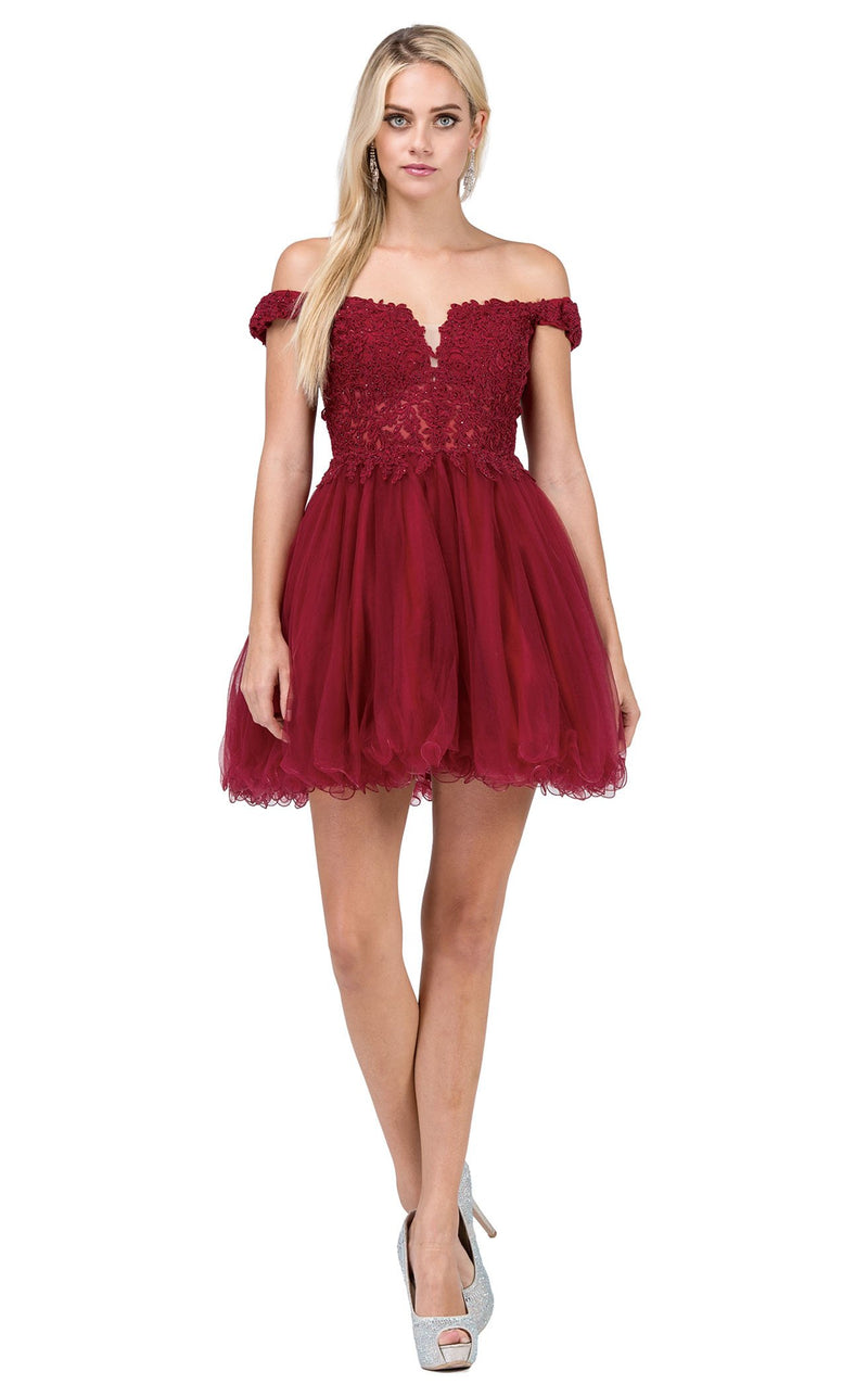 Dancing Queen 2248 Dress Burgundy