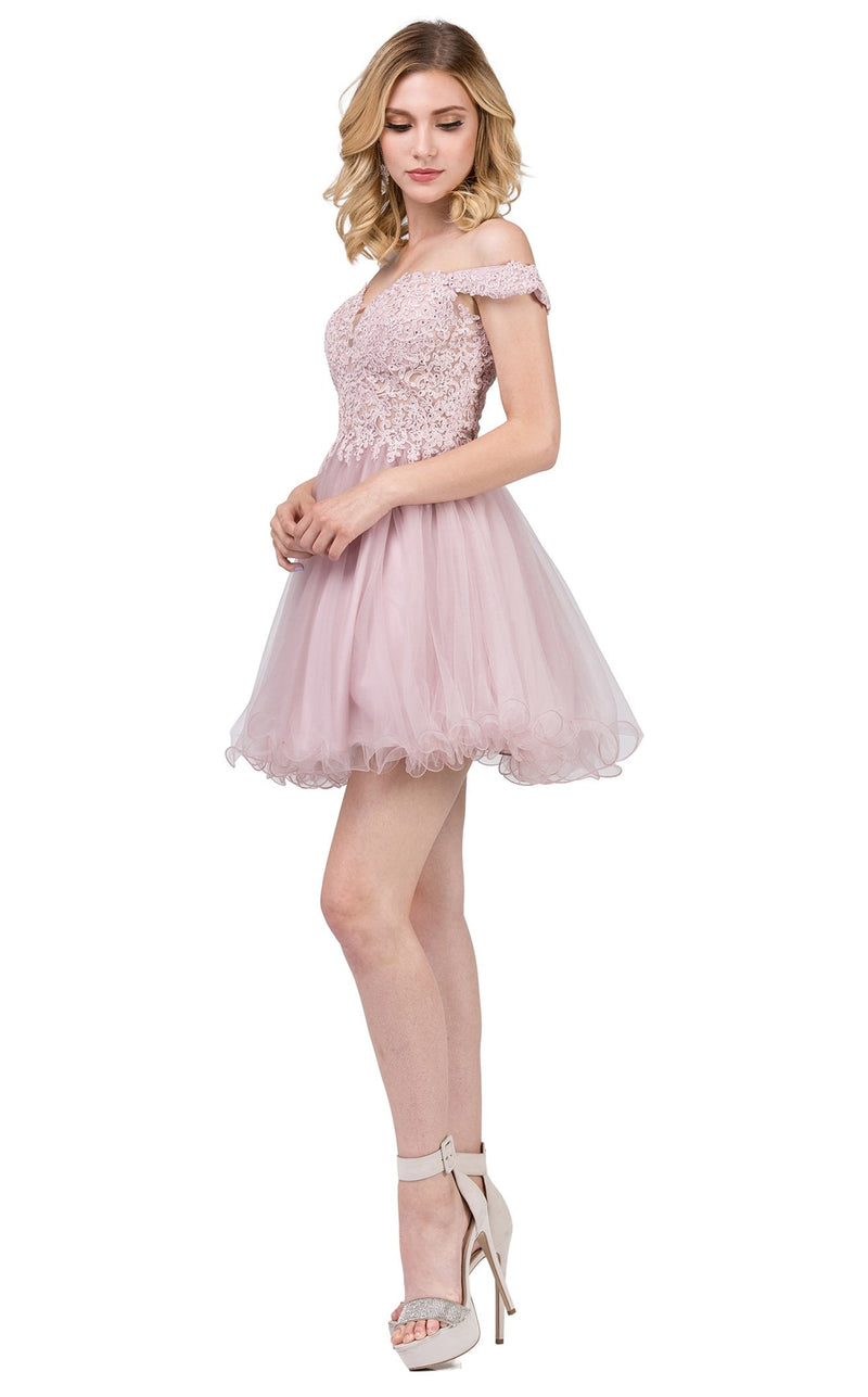 Dancing Queen 2248 Dress Dusty-Pink